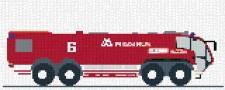 mini Pixel 10003 Fertigbild Feuerwehrauto (66,6 x 26,6cm)