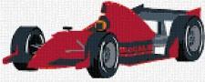 mini Pixel 10004 Fertigbild Rennauto (66,6 x 26,6cm)