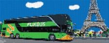 mini Pixel 10007 Fertigbild Doppeldecker (66,6 x 26,6cm)