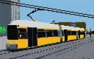 mini Pixel 10008 Fertigbild Straßenbahn (53,2 x 33,3cm)