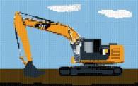 mini Pixel 10009 Fertigbild Bagger (53,2 x 33,3cm)