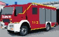 mini Pixel 10011 Fertigbild Feuerwehr (53,2 x 33,3cm)