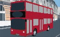 mini Pixel 10012 Fertigbild Doppeldecker-Bus (53,2 x 33,3