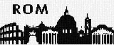 mini Pixel 10013 Fertigbild Skyline Rom (66,6 x 26,6cm)