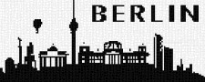 mini Pixel 10014 Fertigbild Skyline Berlin (66,6 x 26,6cm