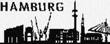 mini Pixel 10015 Fertigbild Skyline Hamburg (66,6x26,6cm)