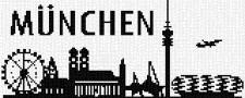 mini Pixel 10016 Fertigbild Skyline München (66,6x 26,6cm