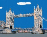 mini Pixel 10018 Fertigbild Tower Bridge (66,6 x 53,2cm)