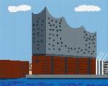 mini Pixel 10019 Fertigbild Elbphilharmonie (66,6 x 53,2c