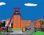 mini Pixel 10020 Fertigbild Zeche Zollverein (66,6x 53,2