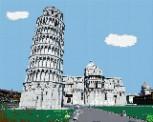 mini Pixel 10022 Fertigbild Schiefer Turm Pisa