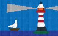 mini Pixel 10023 Fertigbild Leuchtturm (53,2 x 33,3cm)