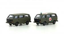 Lemke Minis 4337 VW T3 Militär Schweiz Bus 2-tlg Set