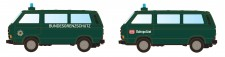 Lemke Minis 4353 VW T3 2er Set Bus BGS + Bahnpolizei