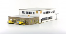 Lemke Minis 5032 Lasercut Bausatz modernes Postgebäude m