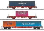 Märklin 47580 DBAG Containerwagen-Set 3-tlg. Ep.6