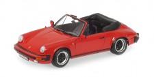 Minichamps 100063030 Porsche 911 Carrera Cabriolet 1983 Rot