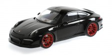 Minichamps 125066322 Porsche 911 R schwarz/Räder rot  2016