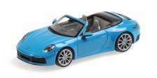 Minichamps 410069332 Porsche 911 Carrera 4S Cab.  2019 blau