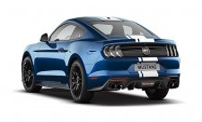 Minichamps 870087021 Ford Mustang blau-met. 2018