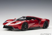 AUTOart 72943 Ford GT 2017 liquid red/ silver stripes