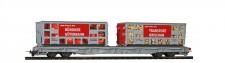 Bemo 2291127 RhB Tragwagen R-w m. Abfallmulden Ep.6