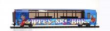 Bemo 3288297 MGB Apres-Ski-Barwagen  blau