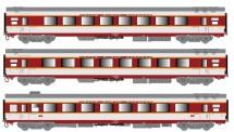 LS Models 40087 SNCF TEE Personenwagen-Set 3-tlg Ep.4b