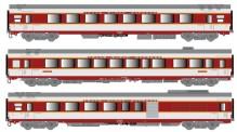 LS Models 40088 SNCF TEE Personenwagen-Set 3-tlg Ep.4b