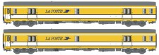LS Models 40445 La Poste Postwagen-Set UIC 2-teilig Ep.4