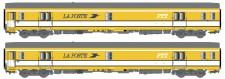 LS Models 40446 La Poste Postwagen-Set UIC 2-teilig Ep.4
