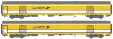 LS Models 40447 La Poste Postwagen-Set UIC 2-teilig Ep.5