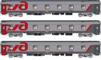LS Models 58027 RZD Schlafwagen-Set 3-tlg Ep.5/6