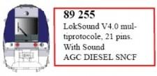 LS Models 89255 LokSound V4.0 für AGC Diesel