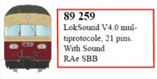 LS Models 89259 LokSound V4.0 für RAe