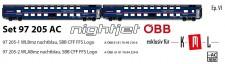 LS Models 97205AC ÖBB Nightjet Doppels-Schlafw-Set Ep.6 AC