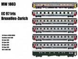 LS Models MW1803 SBB SNCB EC 97 Wagen-Set 7-tlg. Ep.5