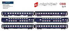 LS Models MW1810AC ÖBB Nightjet Wagen-Set 6-tlg Ep.6 AC