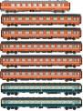 LS Models MW1907 SNCB Personenwagen-Set 8-tlg Ep.5