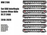 LS Models MW2106AC SBB Reisezugwg.-Set IR 27 7-tlg Ep.6 AC
