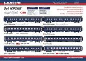 LS Models MW2116 ÖBB Nightjet Wagen-Set NJ 424/490 Ep.6