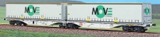 ACME 40294 Hupac Containertragwagen 6-achs Ep.5/6