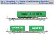 Kombimodell 10365.01 Hupac SBB Taschenwagen-Set 2-tlg Ep.5