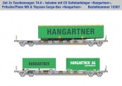 Kombimodell 10367.03 Hupac SBB Taschenwagen-Set 2-tlg Ep.5