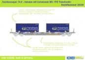 Kombimodell 20338.01 Hupac SBB Taschenwagen 4-achs Ep.5