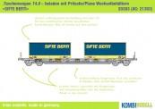 Kombimodell 20383.01 Hupac SBB Taschenwagen 2-achs Ep.6