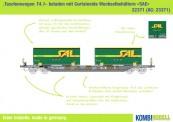 Kombimodell 22371.01 Hupac SBB Taschenwagen Ep.6