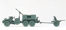 Preiser 16553 Krupp Kfz69 Protze grau & PAK L/45