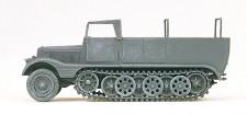 Preiser 16561 SdKfz11 Halbketten-ZM offen grau