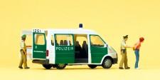 Preiser 33248 Polizeifahrzeug mit geöffneten Türen.